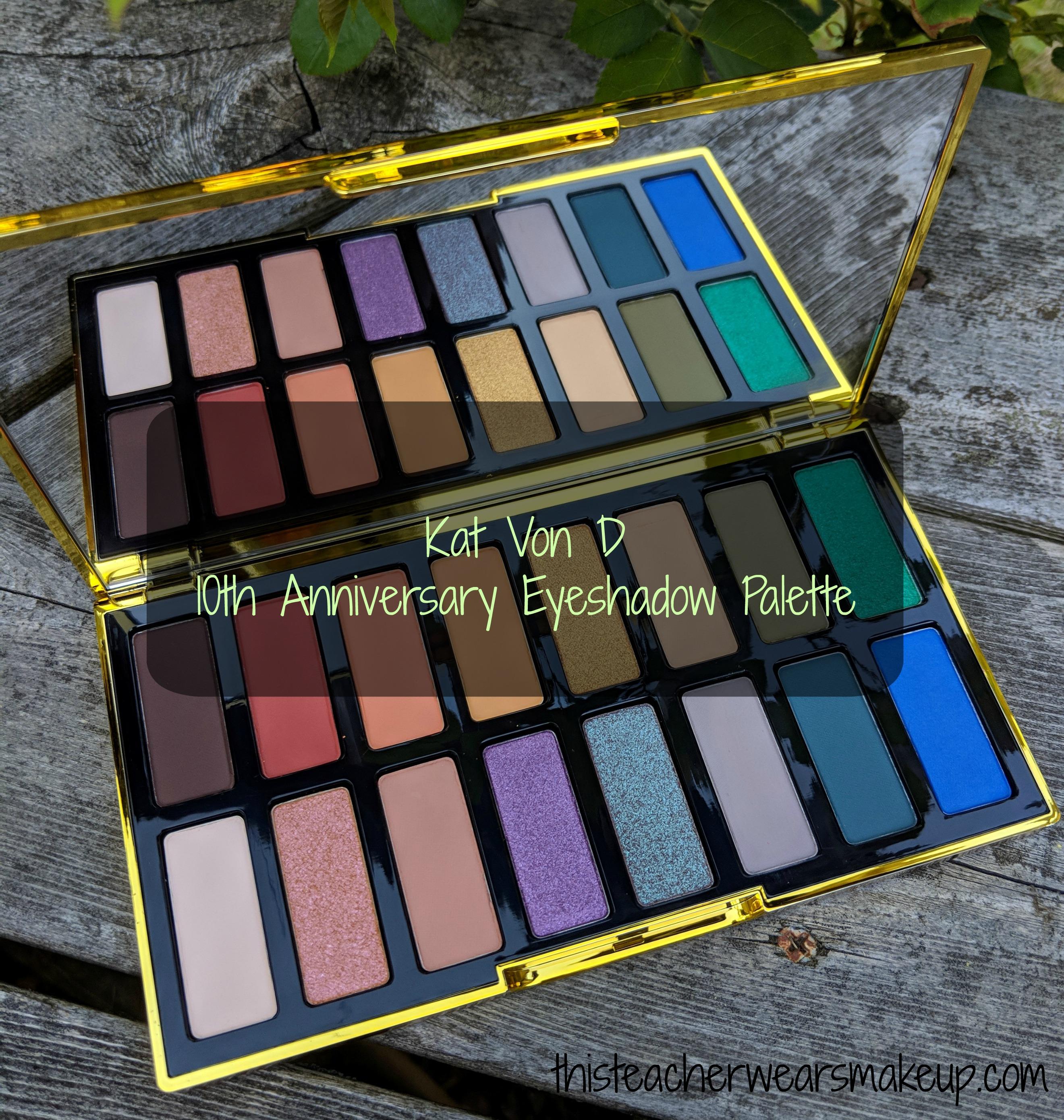 Kat Von D 10th Anniversary Eyeshadow Palette